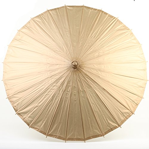 Best Celebrity Costumes 2016 (Koyal Wholesale 32-Inch Paper Parasol, Umbrella for Wedding, Bridesmaids, Party Favors, Summer Sun Shade (1, Gold))