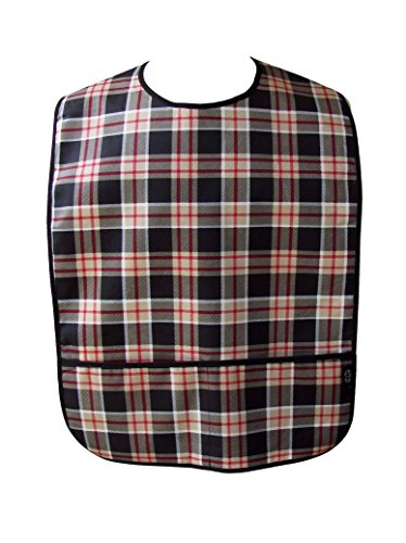 Adult Clothing Protector with Front Pockets (Man Plaid)