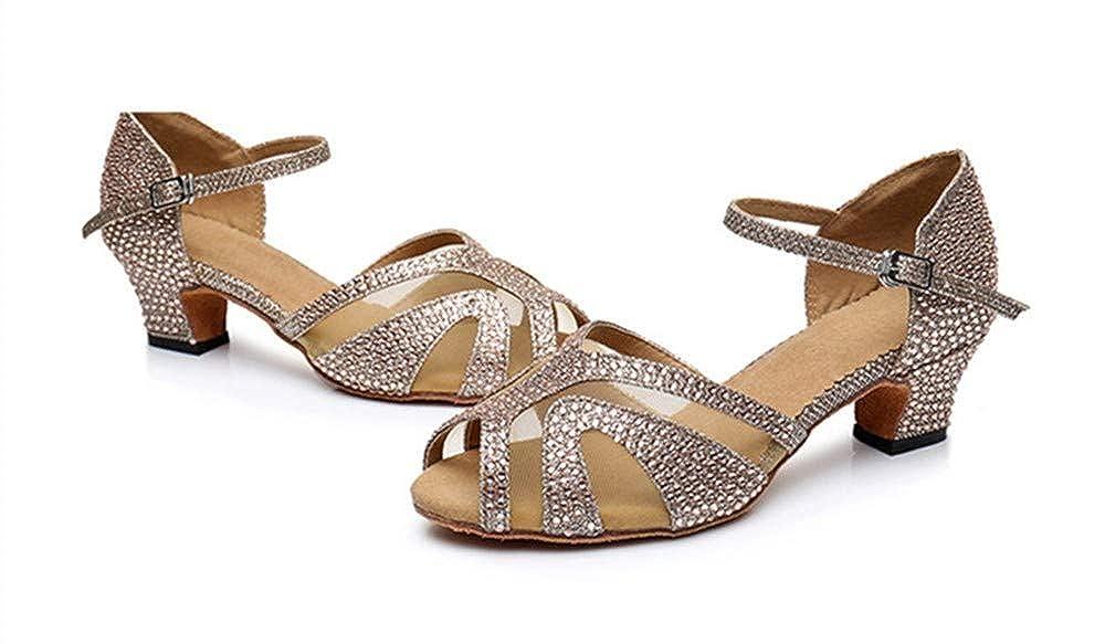 HCCY HCCY HCCY Latex-Tanzschuhe für Frauen mit weichem Boden aus Bronze mit niedrigem Absatz 5cc075