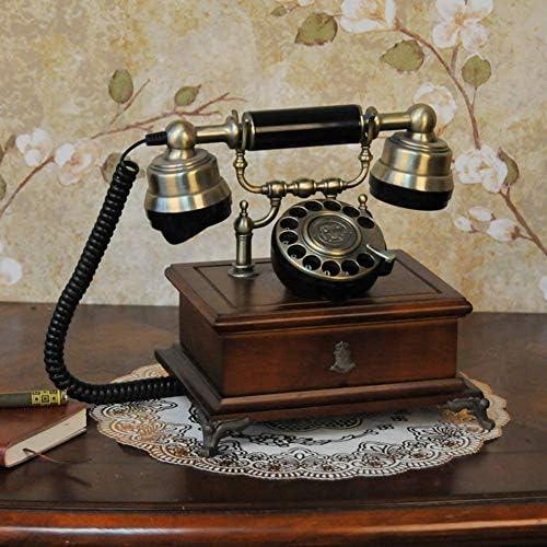 BZM-ZM 無垢材、ヨーロッパスタイル、電話[レトロ]、家庭での使用、[創造]、有線-E