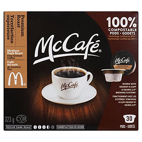 MCCAFE Premium Roast Coffee, Single Serve Pods, 30 Pods, 323G