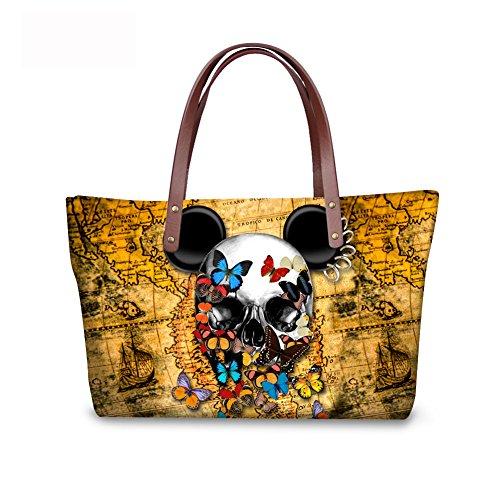 FancyPrint Handbags Foldable Satchel Bags Purse Fashion Women Wallets Top C8wca5395al Handle xURPFxq