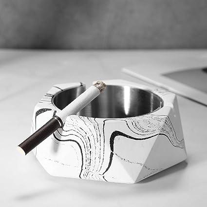 DEBEME Cenicero de cigarrillos de forma geométrica Tarro de ...