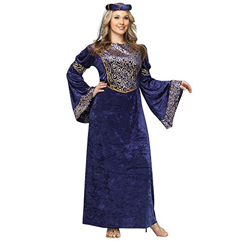 Renaissance Maiden Plus Size Costume - Plus Size White Queen Halloween Costume