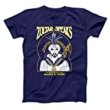 Zoltar Speaks Fortune Teller Funny Big Hilarious Jersey Shore Comedy Humor Mens Shirt Medium Navy