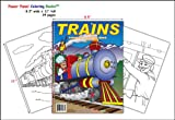 Trains Coloring Book (8. 5 X11 ), Really Big Coloring Book, 1935266276
