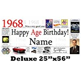 1968 50th Birthday Deluxe Personalized Banner by Partypro