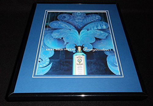 2012 Bombay Sapphire London Dry Gin Framed 11x14 ORIGINAL Advertisement