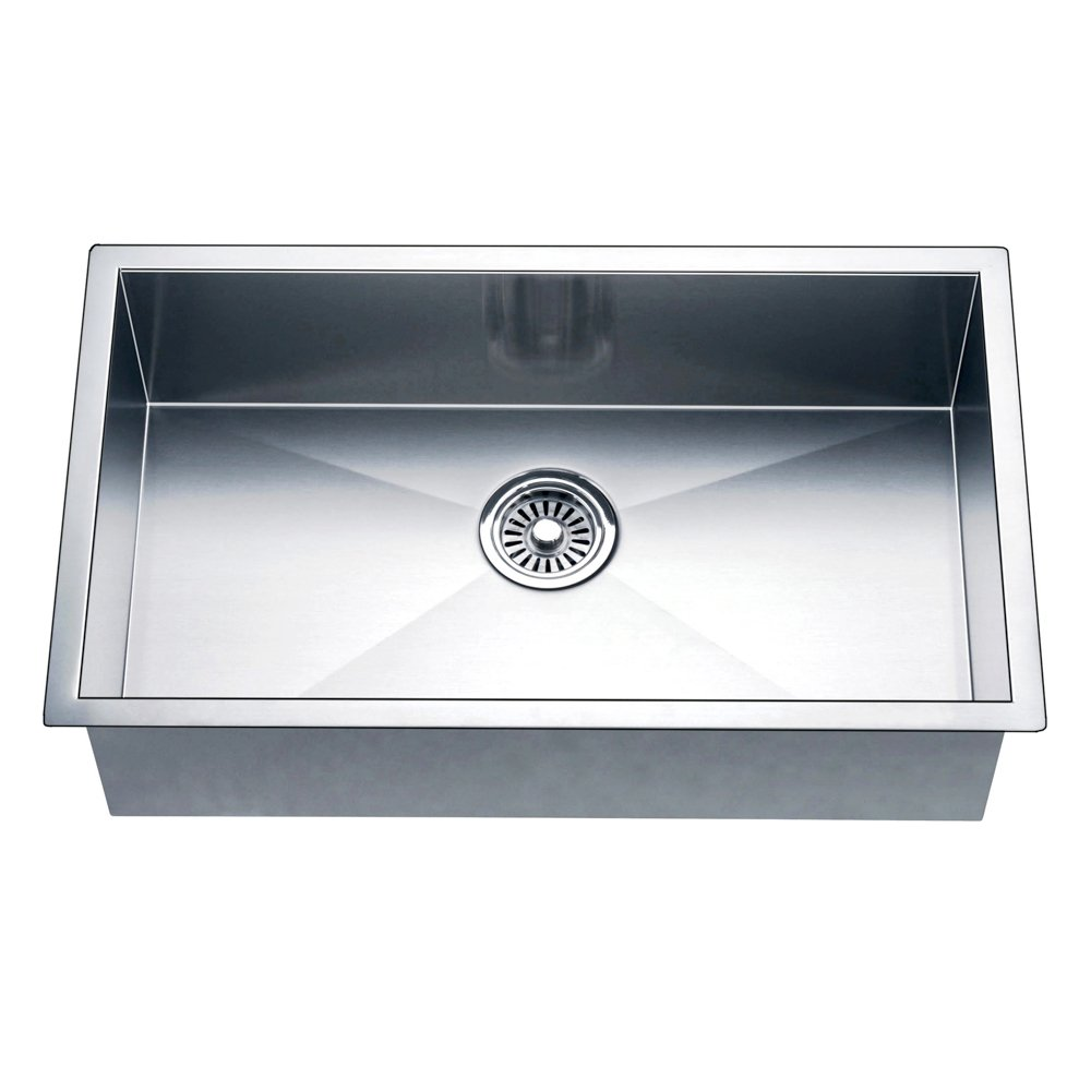 Daweier ESQ310900 Square Sink Single Bowl, 18 Gauge
