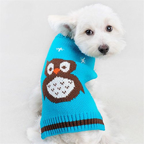 NACOCO Pet Clothes the Owl Pet Sweater the Cat Dog Sweater Jacket Dog Apparel (Small)