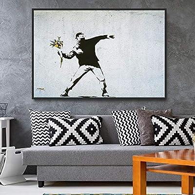 Framed for Living Room Bedroom Banksy Theme for