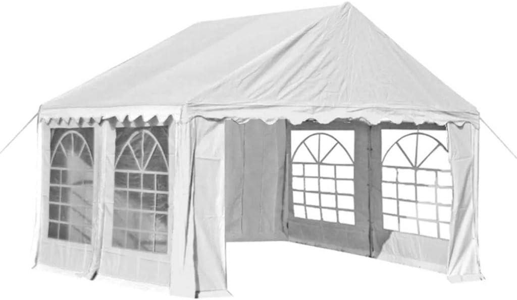 Tidyard Carpa de jardín Carpas para Fiestas de PVC, 4x4 m Blanco: Amazon.es: Hogar