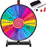 Giantex Tabletop Spinning Prize Wheel Editable Dry Erase Color 14 Slots Tradeshow Carnival Fortune Spinning Ga