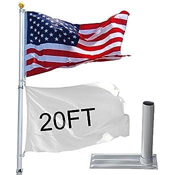 Amazon Com Yeshom 20ft Telescopic Aluminum Flag Pole