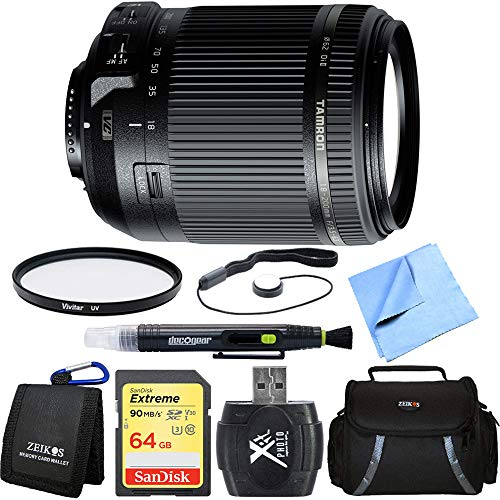 - Tamron 18-200mm Di II VC All-in-One Zoom Lens for Nikon Mount Includes Bonus Vivitar Multicoated UV Protective Filter and More