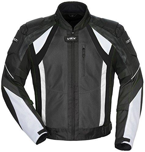 Cortech VRX Air Mesh Men's Motorcycle Jacket Gun/Black/White (Air Mesh Jacket)