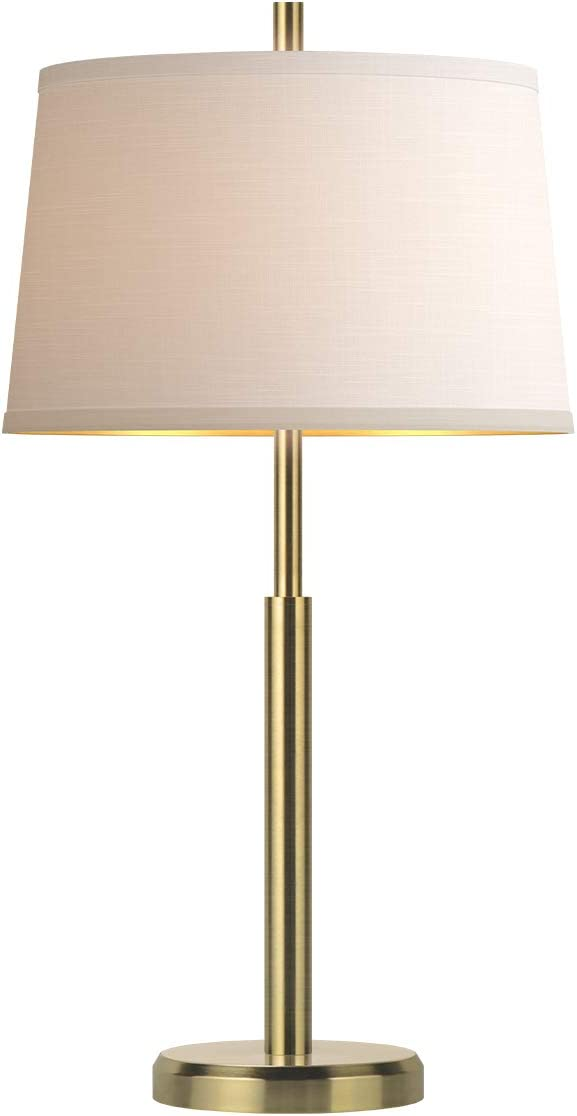 Oneach Modern Table Lamp for Living Room Nightstand & Side Table Lamp with Drum Shade Bedside Light for Bedroom Study Office (Gold)