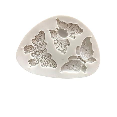 1x Molde Lindo Mariposa Silicona Molde para decoración de Pasteles Hecho a Mano Chocolate