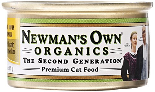 Newman's Own Organic Cat Food, Canned Chicken & Brown Rice F