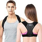 Corrector de Postura Espalda Soporte Transpirable Postural Ajustable Alivia el Dolor de Espalda en el Cuello y los…