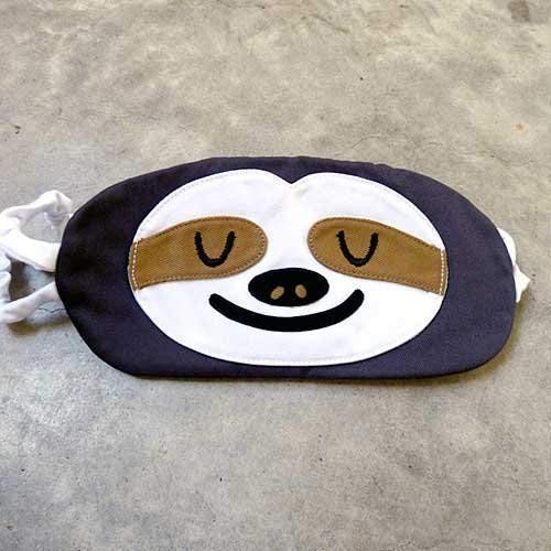 Gray Sloth Handmade Cotton Padded Sleep Eye Mask -