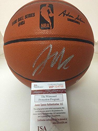 Autographed/Signed Jahlil Okafor Duke Sixers Spalding Full Size Basketball JSA COA 4x6 Photo (Basketball Spalding Mini Autographed)