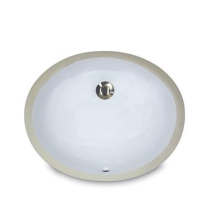 Nantucket Sinks UM-13x10-W 13-Inch by 10-Inch Oval Ceramic