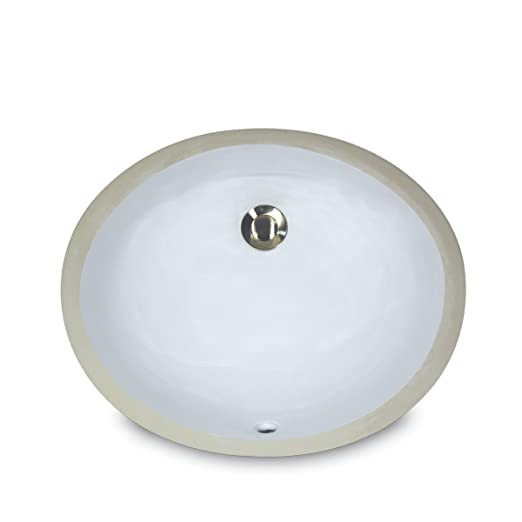 Nantucket Sinks UM 13x10 W 13 Inch By 10 Inch Oval Ceramic Undermount  Vanity Sink, White   Bath Sinks   Amazon.com