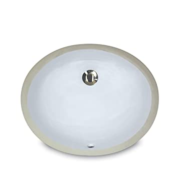 Nantucket Sinks UM 13x10 W 13 Inch By 10 Inch Oval Ceramic