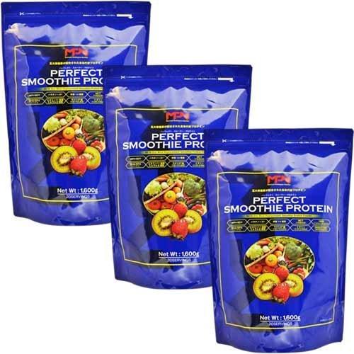 エムピーエヌ パーフェクトスムージープロテイン(PERFECT SMOOTHIE PROTEIN)ストロベリー&キウイフレーバー 1.6kg 3袋 セット B00V8ZFAMY