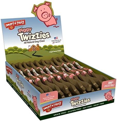 Emerald Pet Grain Free Pork Piggy Twizzies All Natural Chews