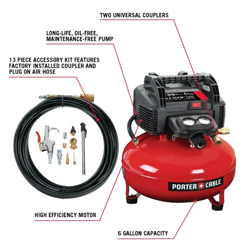 PORTER CABLE C2002 is easy to use as the 6-gallon air compressor