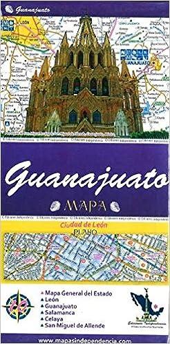 Mexico Map Guanajuato.Guanajuato Mexico State And Major Cities Map Spanish Edition