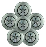 Discraft Ultra-Star 175g Ultimate Frisbee Sport Disc (6 Pack) Choose Color (Silver)