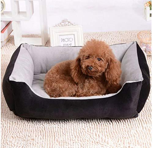 Black XS Black XS BEITAI New Kennel Pet Nest Velvet Dog Mat Pet House Fall Winter Warm Pet Waterloo Dog Bed Pet Supplies Camas para Perros (color   Black, Size   XS)