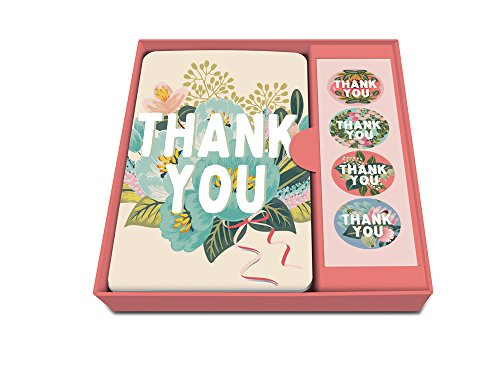 Studio Oh! Flower Field Thank You Notecard Set with Stickers (Box of 12)