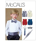 McCall's Patterns M4290 Children's/Boys' Lined Vests, Cummerbund, Bow Tie and Necktie, Size CJ (10-12-14)