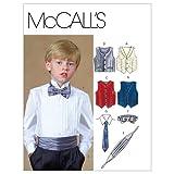McCall's Patterns M4290 Children's/Boys' Lined Vests, Cummerbund, Bow Tie and Necktie, Size CJ (10-12-14)
