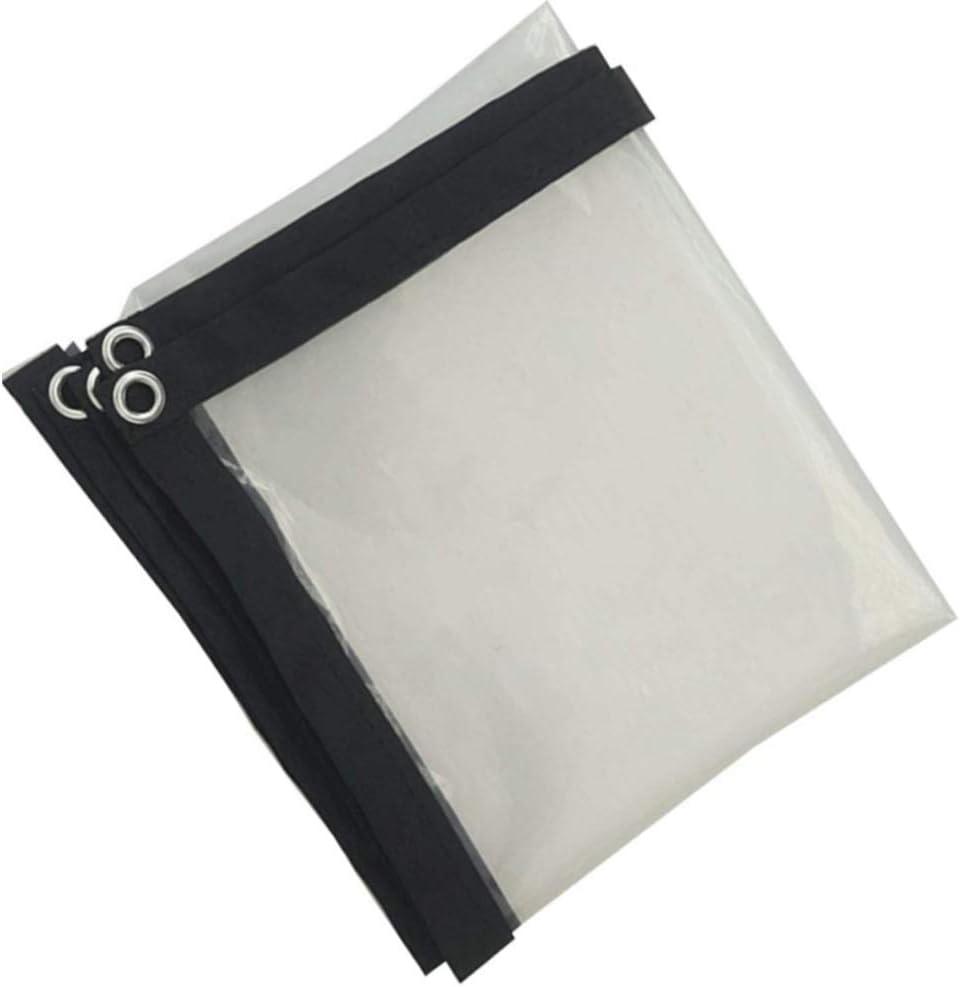 Color : Clear, Size : 1x1m GDMING Lonas Impermeable Lona De Protecci/ón Tarea Pesada Reforzado Al Aire Libre Cubierta De Hoja De Tierra Toldo De Pl/ástico con Ojales Transparente PVC,24 Tama/ños