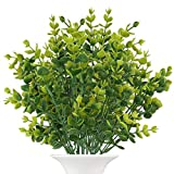 front porch decorating ideas The Bloom Times Artificial Boxwood (Pack of 6),Fake Greenery Foliage Plants with Total 42 Stems for Wedding, Garden, Farmhouse Outdoor Decor in Bulk Wholesale