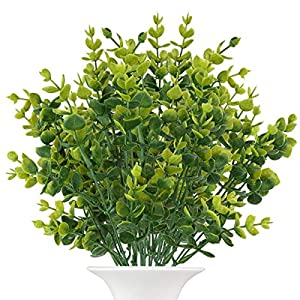 The Bloom Times Artificial Boxwood (Pack of 6),Fake Greenery Foliage Plants with Total 42 Stems for Wedding, Garden, Farmhouse Outdoor Decor in Bulk Wholesale 9