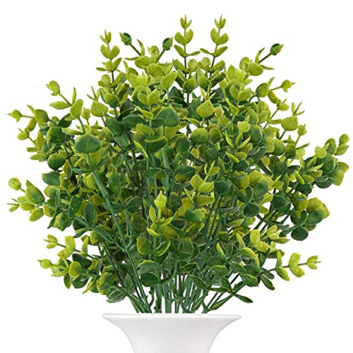 The Bloom Times Artificial Boxwood (Pack of 6), Greenery Boxwood Stems Fake Plants Foliage for Home, Wedding, Garden, Farmhouse, Patio, Indoor and Outdoor Decor in Bulk Wholesale