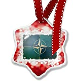 Christmas Ornament North Atlantic Treaty Organization (NATO), red - Neonblond