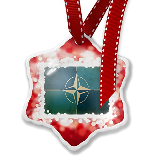 Christmas Ornament North Atlantic Treaty Organization (NATO), red - Neonblond by NEONBLOND