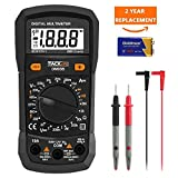 Digital Multimeter, Tacklife DM03B Electrical Manual-Ranging Amp Volt Ohm Meter 2000 Counts  Diode and Continuity Tester Voltage Detection with LCD Display Backlight