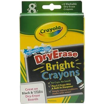 crayola 98 5202 dry erase crayon 8 per box