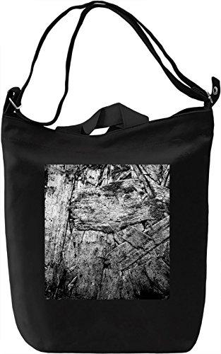 Wooden Print Borsa Giornaliera Canvas Canvas Day Bag| 100% Premium Cotton Canvas| DTG Printing|