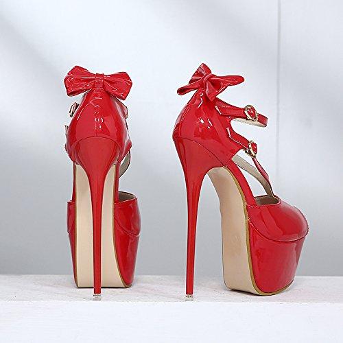 bene metallo pesce sexy piattaforma gules di 17cm serata a sandali donna scarpe 15 bocca a da va tallone scarpe divertente negozio super GTVERNH 37 AXxP0w0