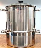 Uzbek 5 Tier / Level 18 qt. 18/10 Stainless Steel Steamer, Cooker, Warmer for Dumplings, Mantovarka, Manti