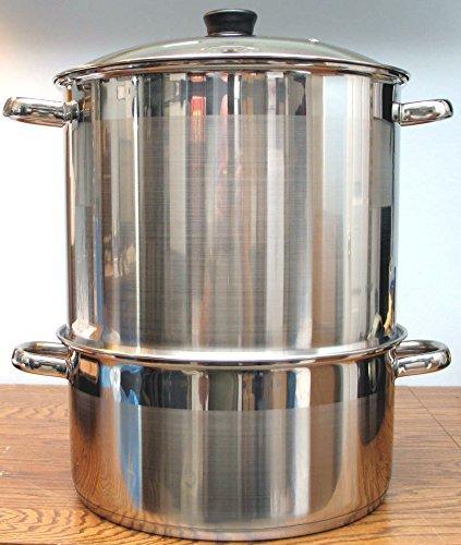 Uzbek 5 Tier / Level 18 qt. 18/10 Stainless Steel Steamer, Cooker, Warmer for Dumplings, Mantovarka, Manti by WORLD GIFTS